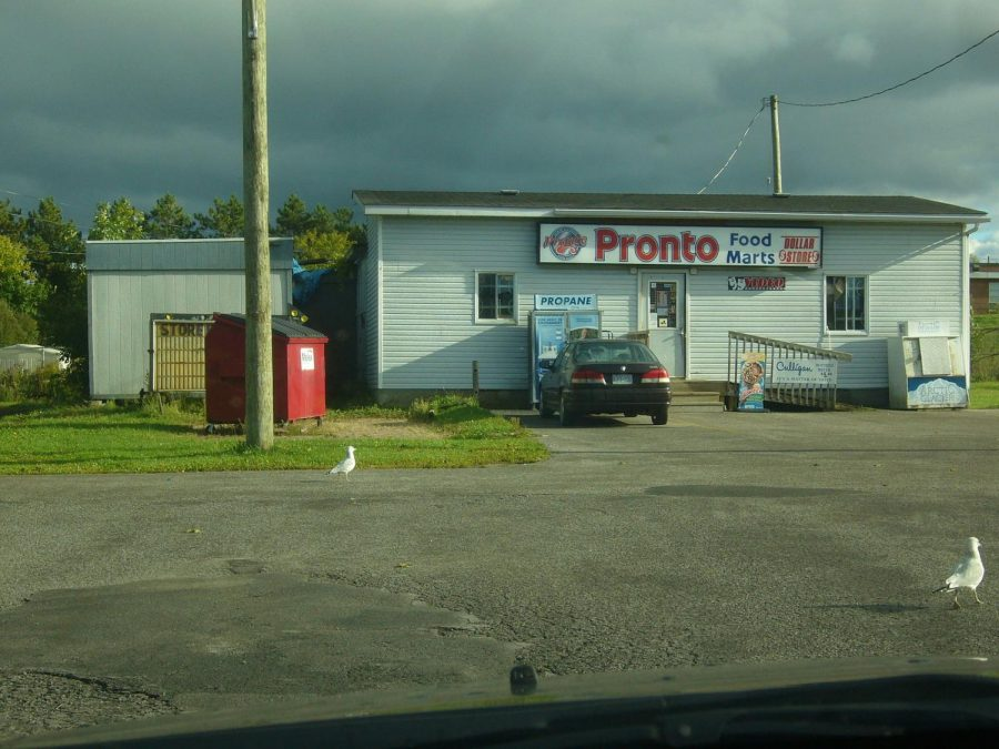 This food mart portrays the minimal access and lower quality food products that many communities struggle with within a food desert (https://en.wikipedia.org/wiki/File:Pronto_Food_Mart_on_CFB_Uplands.jpg).